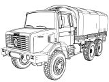 Renault Gbc 180 Military Truck Coloring Page