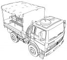 Renault Trm 2000 Military Truck Coloring Page