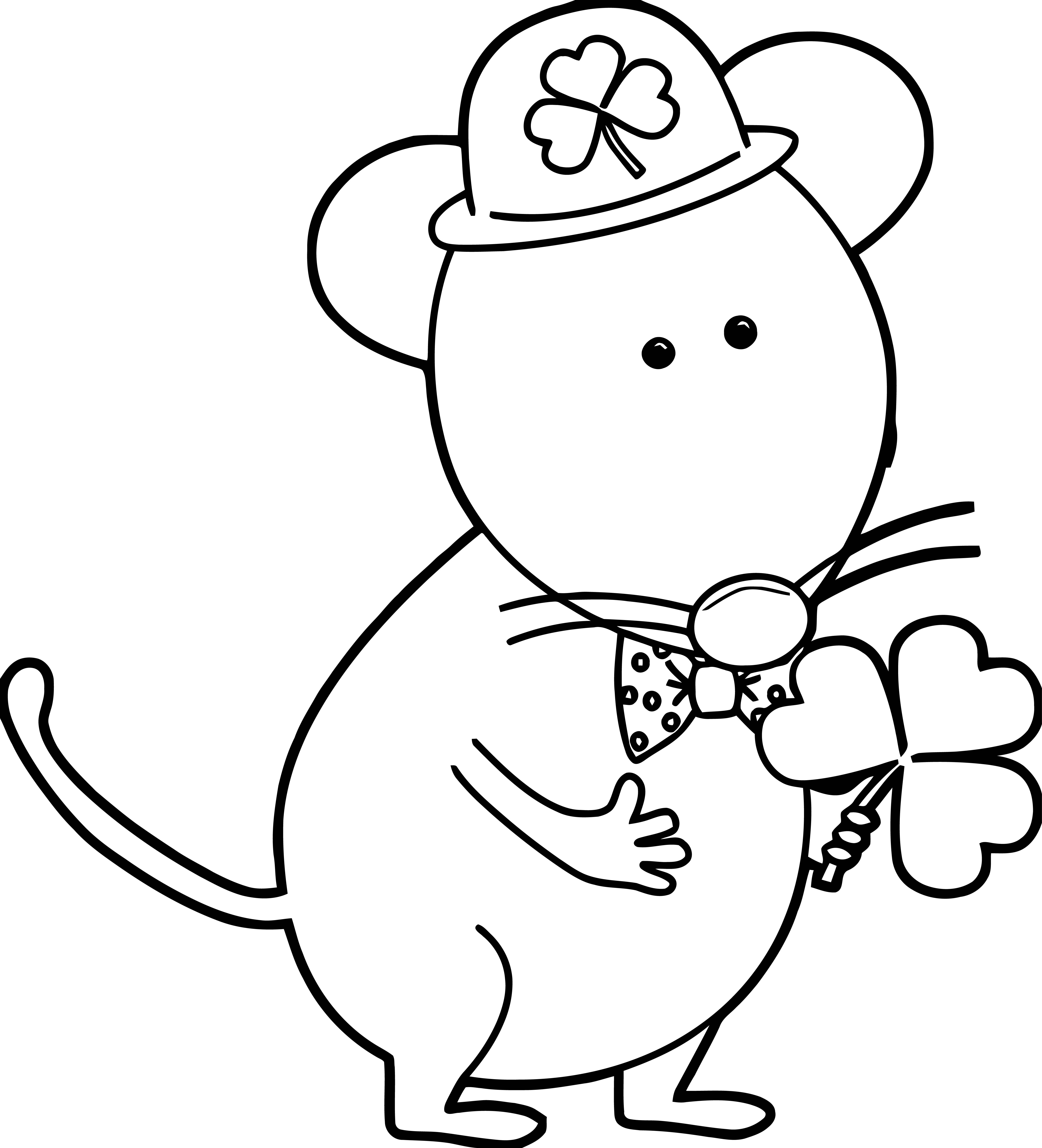 Saint Patricks Day Mouse Coloring Page