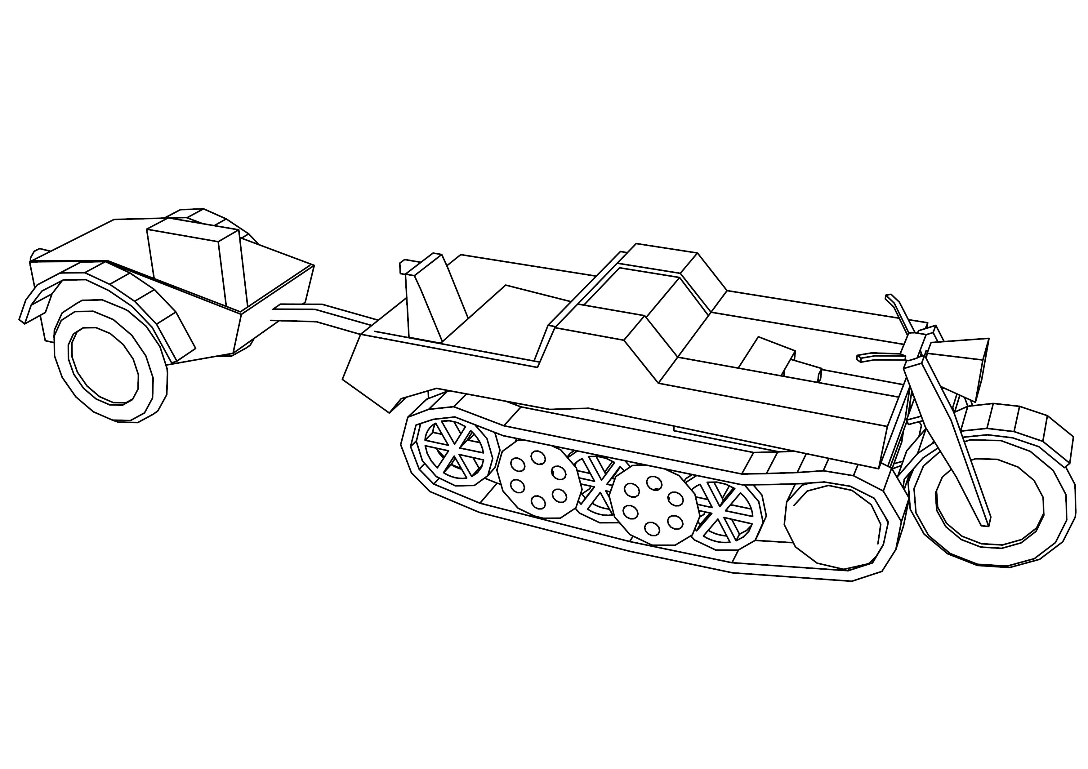 Sdkfz2 L Tank Coloring Page