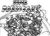 Super Mario Kart Coloring Page