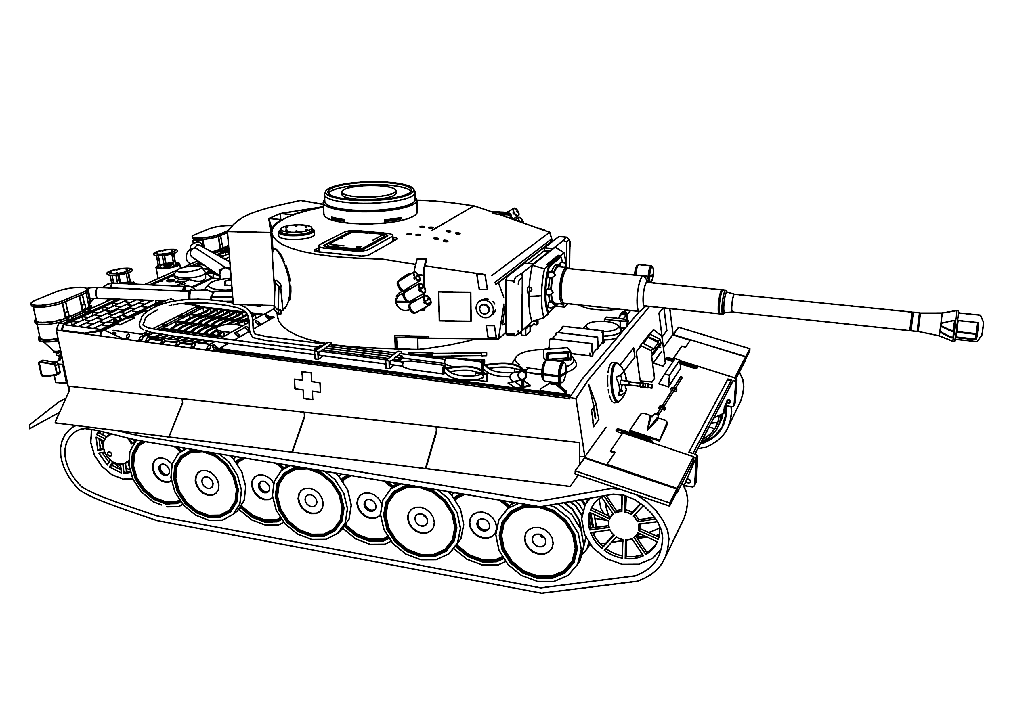 Tiger Tank Coloring Page