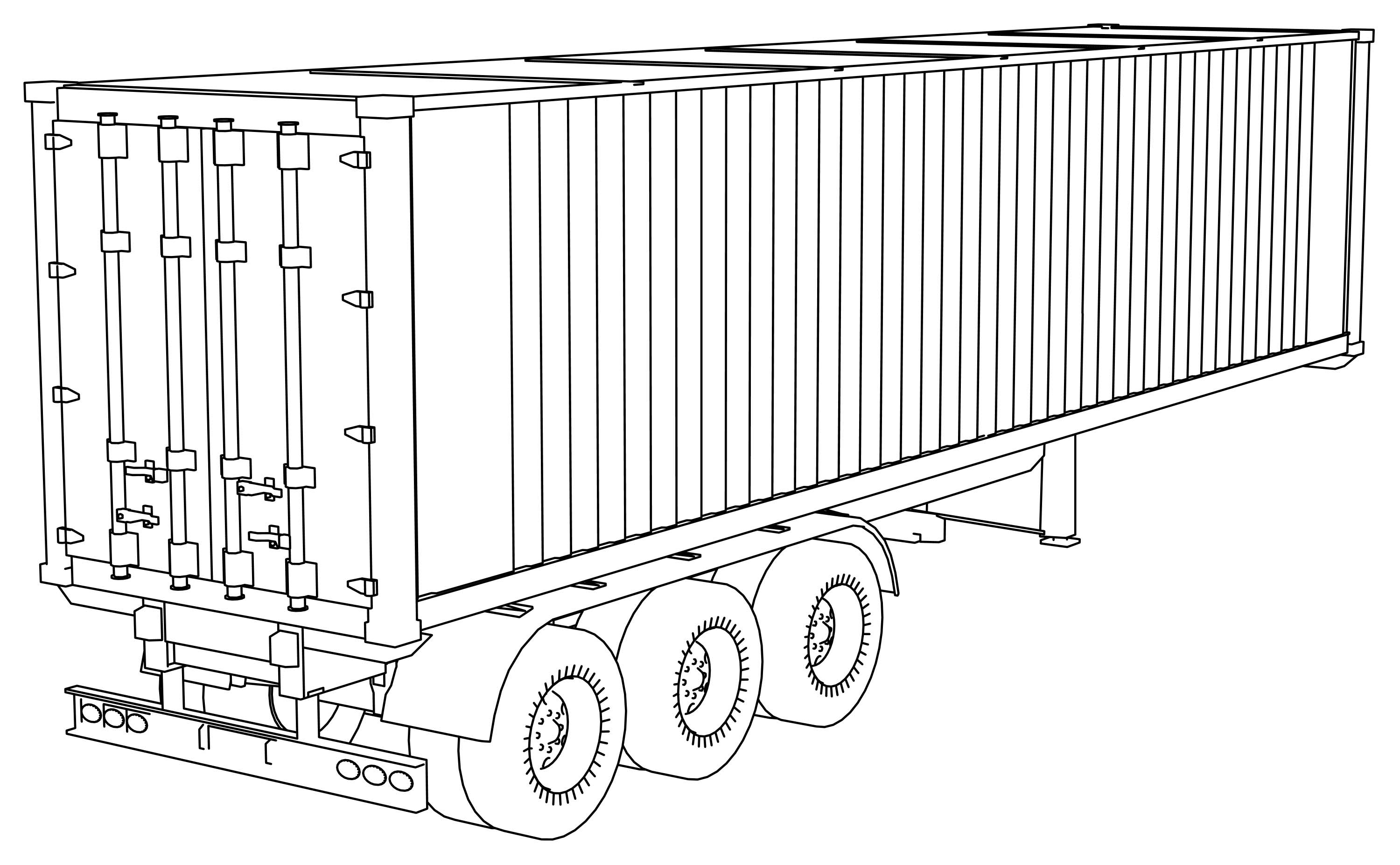 Trailer Container Coloring Page