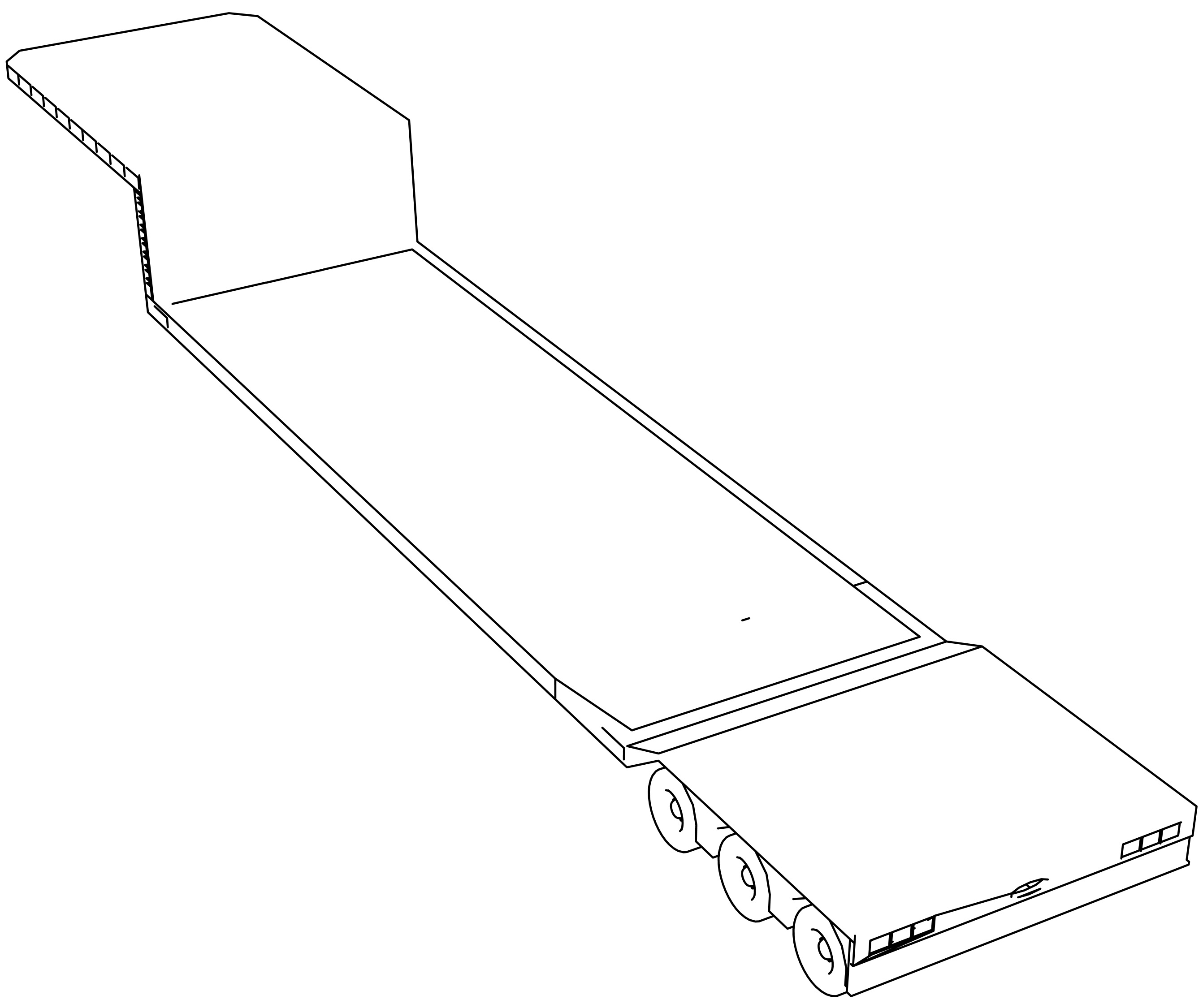 Trailer Lowboy Coloring Page