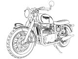 Triumph Bonneville Stout Bike Motorcycle Coloring Page 02