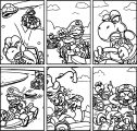 Virtual Shackles Super Mario Kart Koopa Shell Red Green Luigi Jeremy Vinar Mike Fahmie Coloring Page