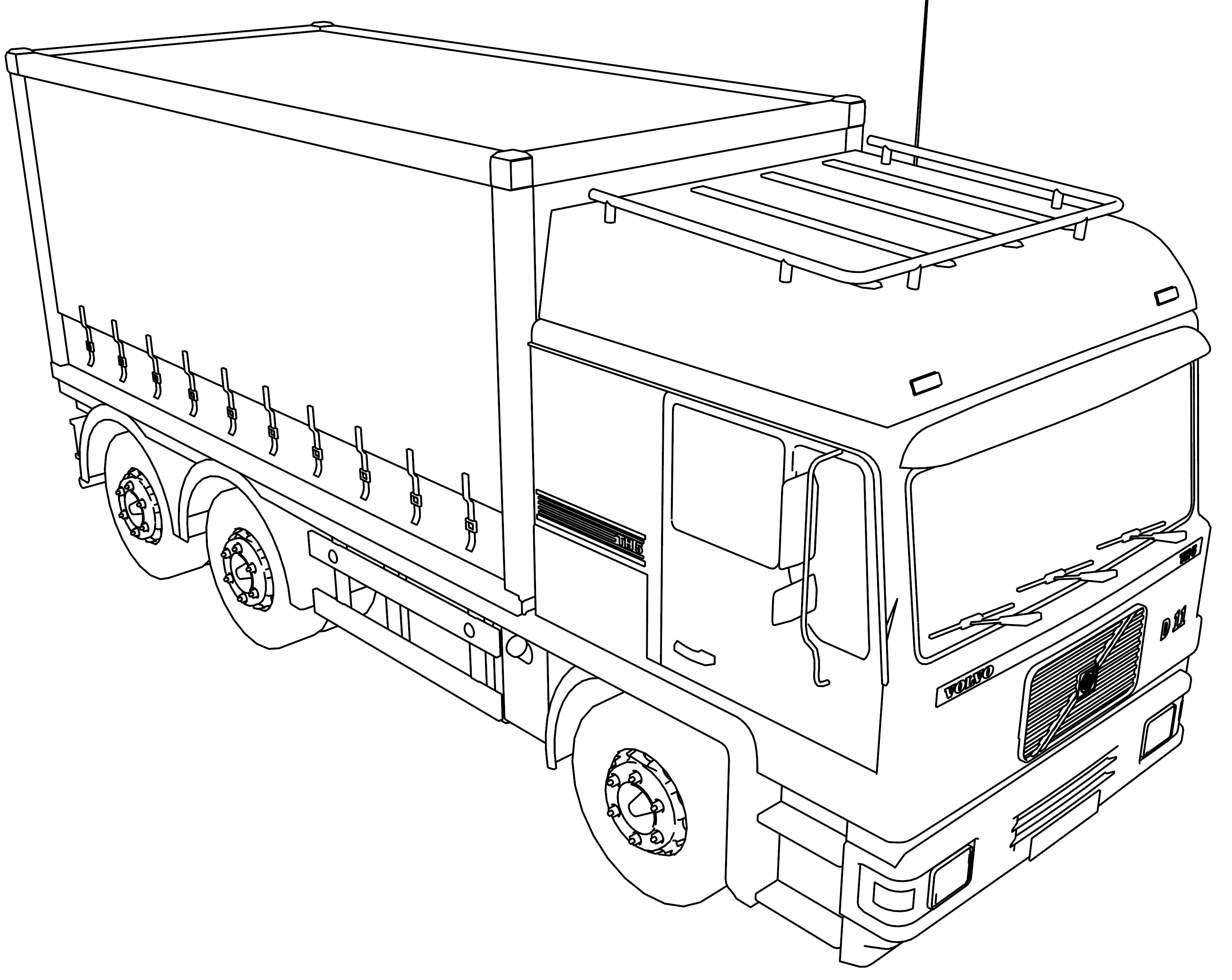 Volvo Th5 Military Truck Coloring Page