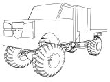 2006 Dually Mini Monster Truck Coloring Page