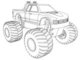 Angry Perfect Monster Truck Coloring Page