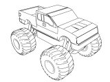 F 150 Monster Truck Coloring Page