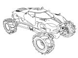 Koenigsegg Agera Monster Truck Car Coloring Page