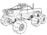 Linkin Park Monster Police Truck Coloring Page