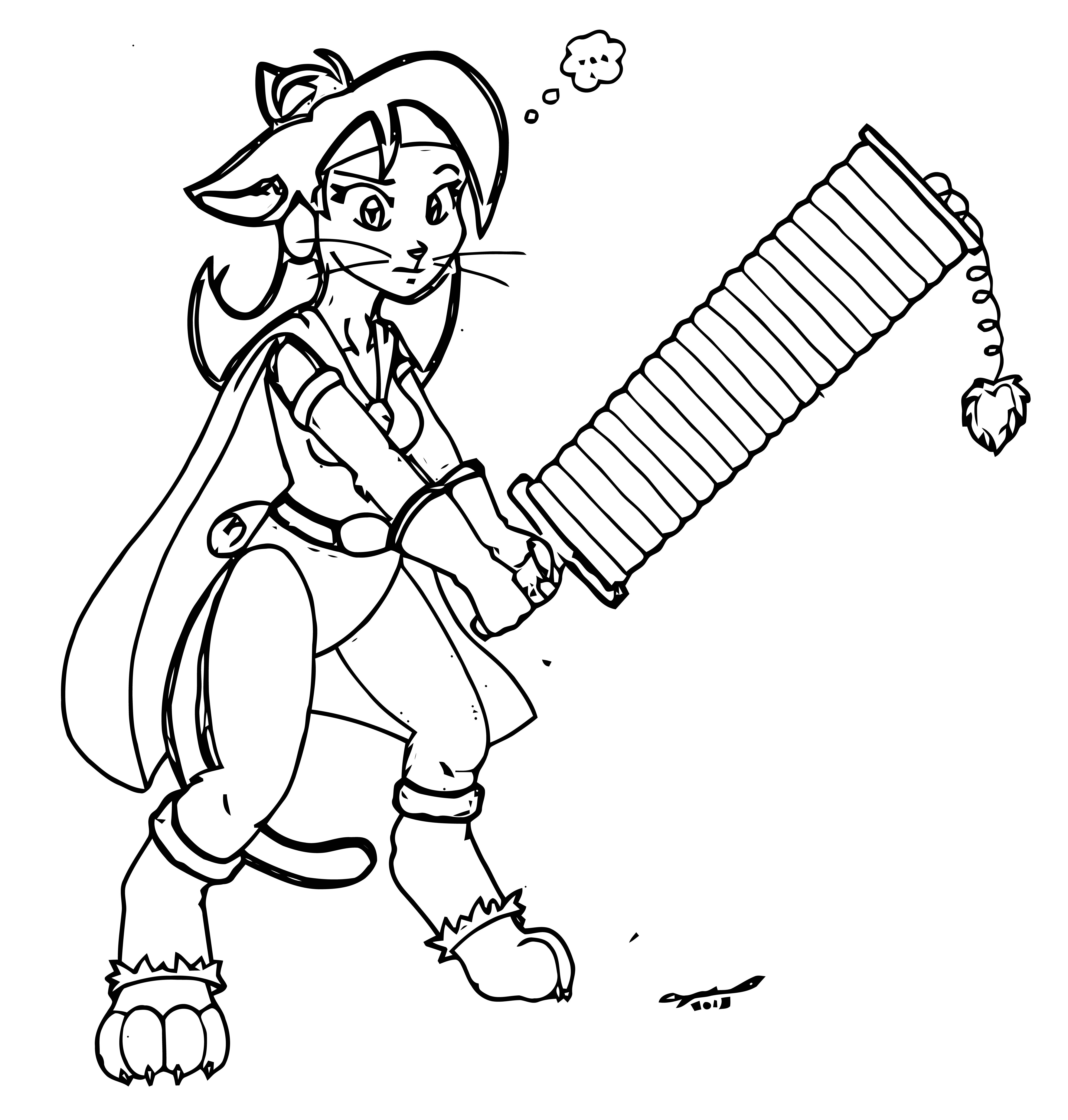Magisword Mishap Coloring Page
