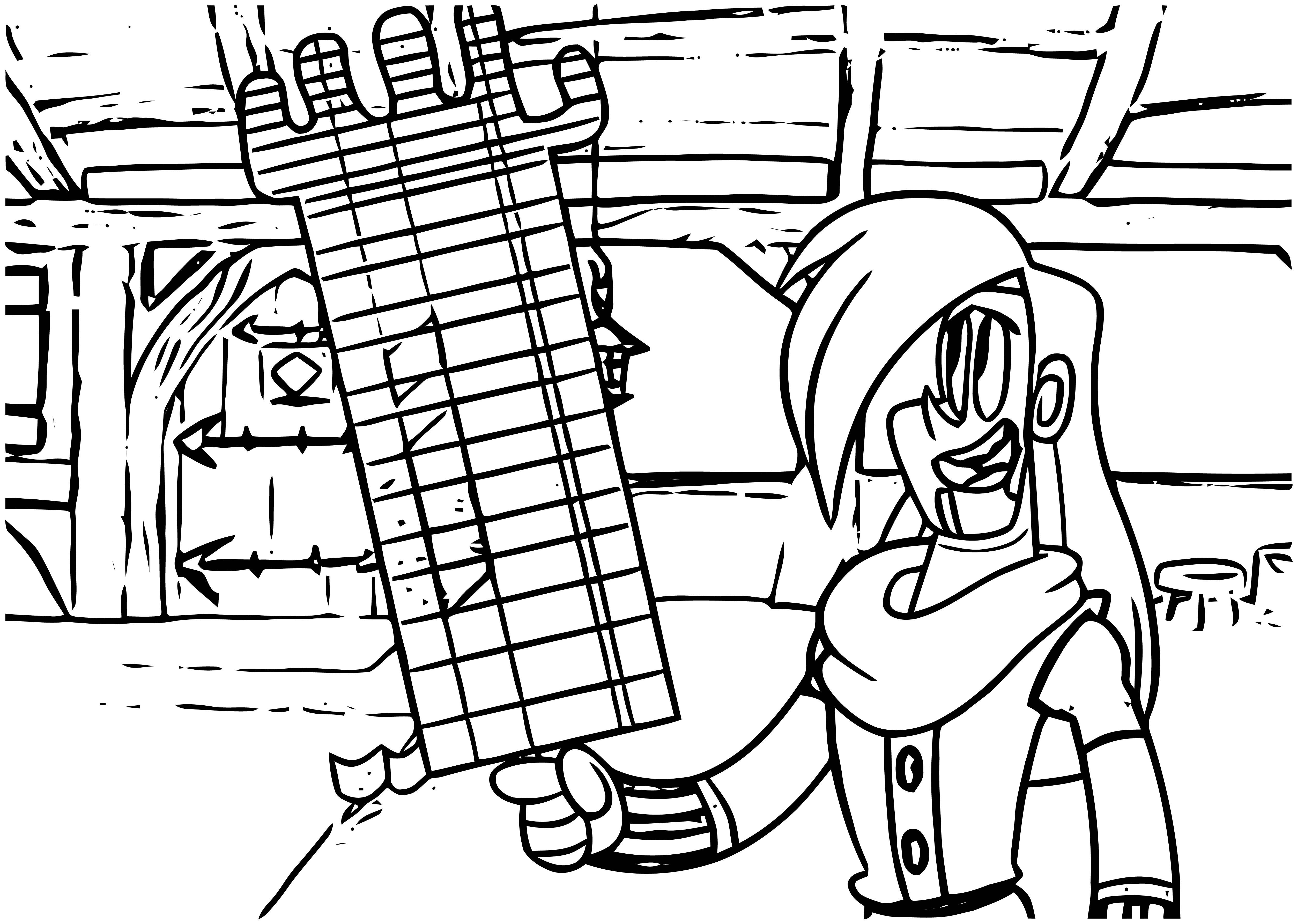 Mighty Magiswords Cartoon Just Network Coloring Page