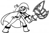 Mighty Magiswords Girl Punch Blade Coloring Page