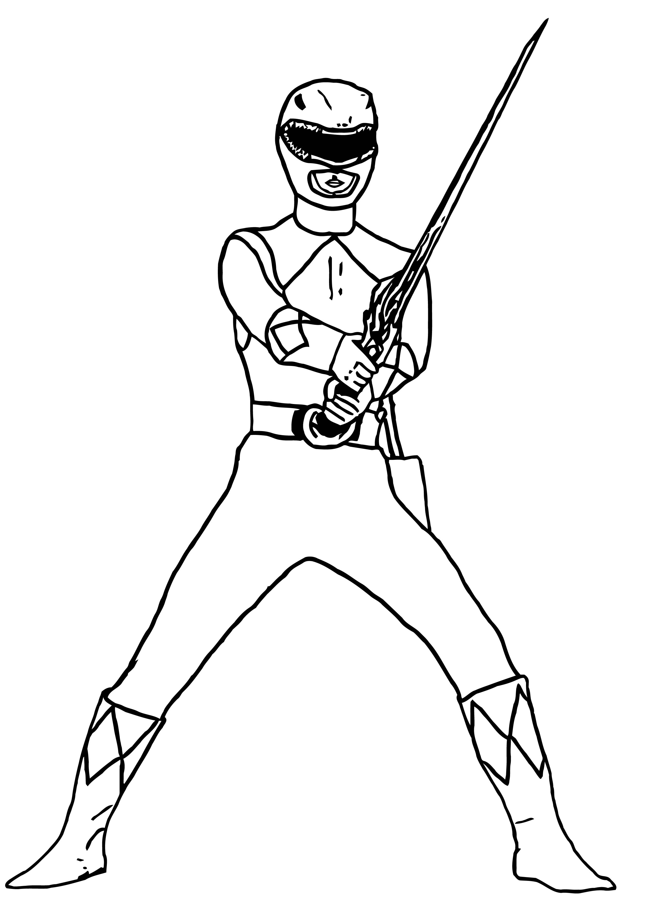 Mighty Morphin Power Ranger Coloring Page