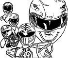 Mighty Morphin Power Rangers Coloring Page
