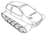 Monster Truck Renaud Tank Car Coloring Page