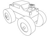 Monster Truck Toy Coloring Page