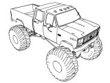 My Monster Truck Big Size Coloring Page
