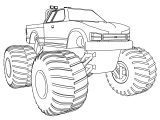 My Monster Truck Coloring Page