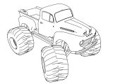 Old Ford Monster Truck 4×4 Coloring Pages