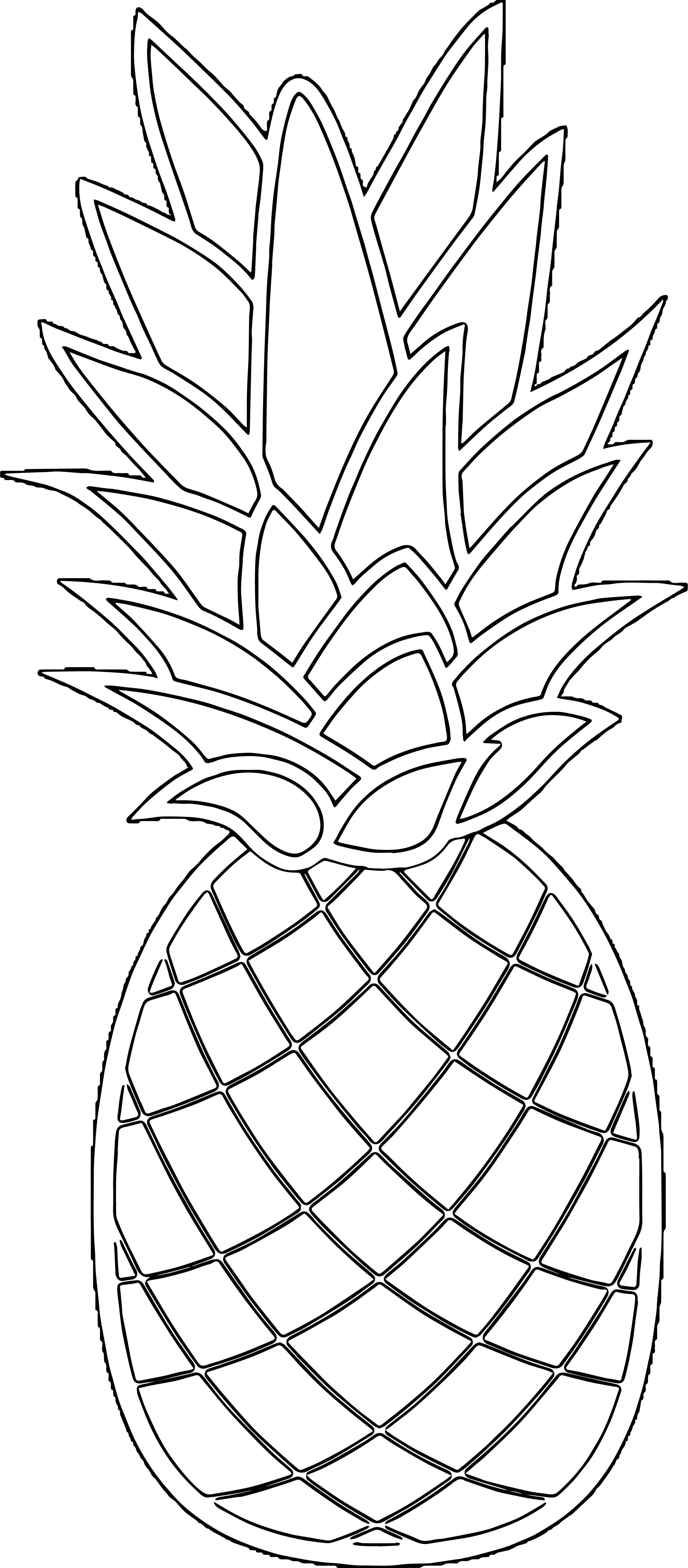 Pineapple Coloring Page WeColoringPage 27