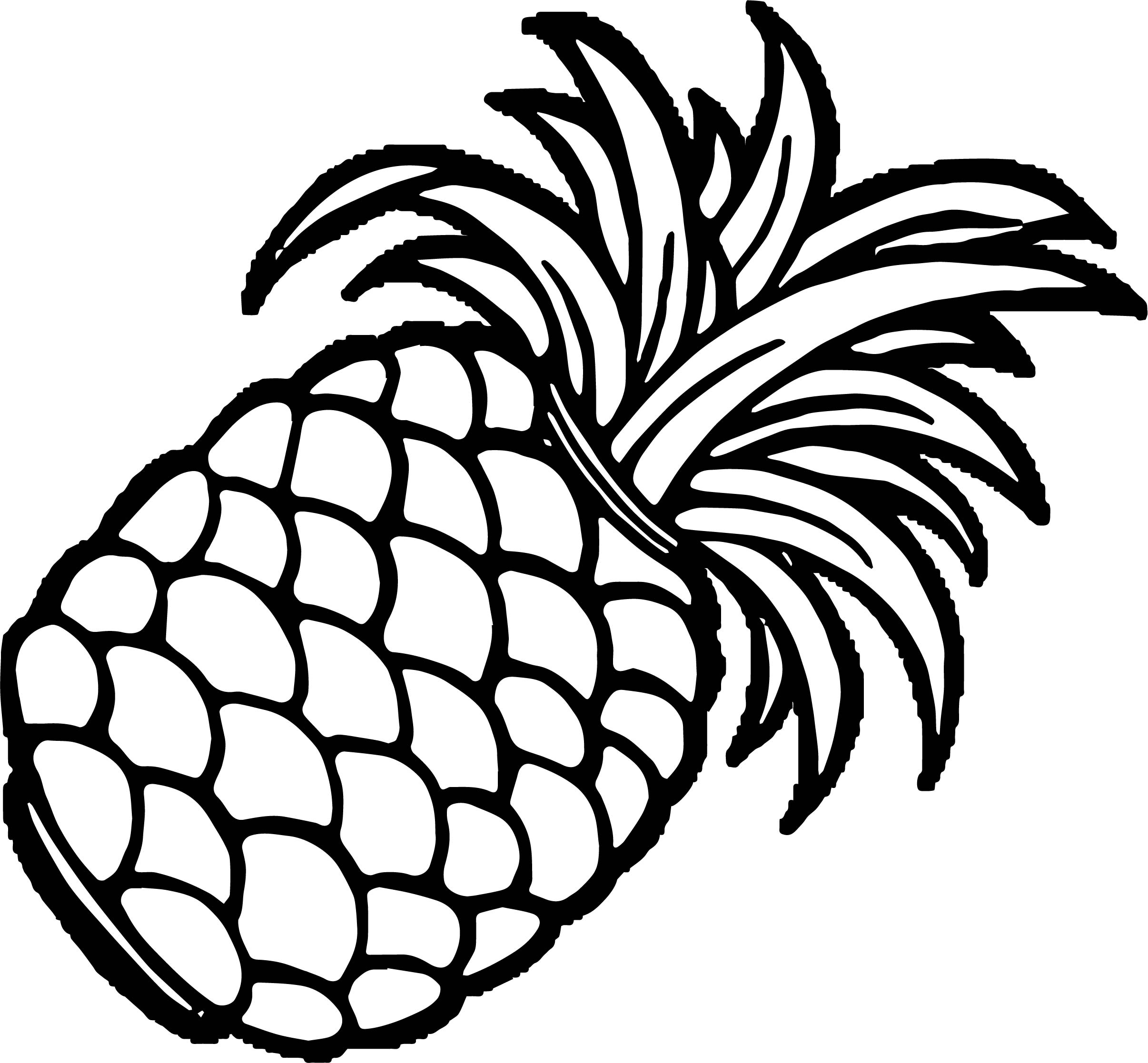 Pineapple Coloring Page WeColoringPage 46