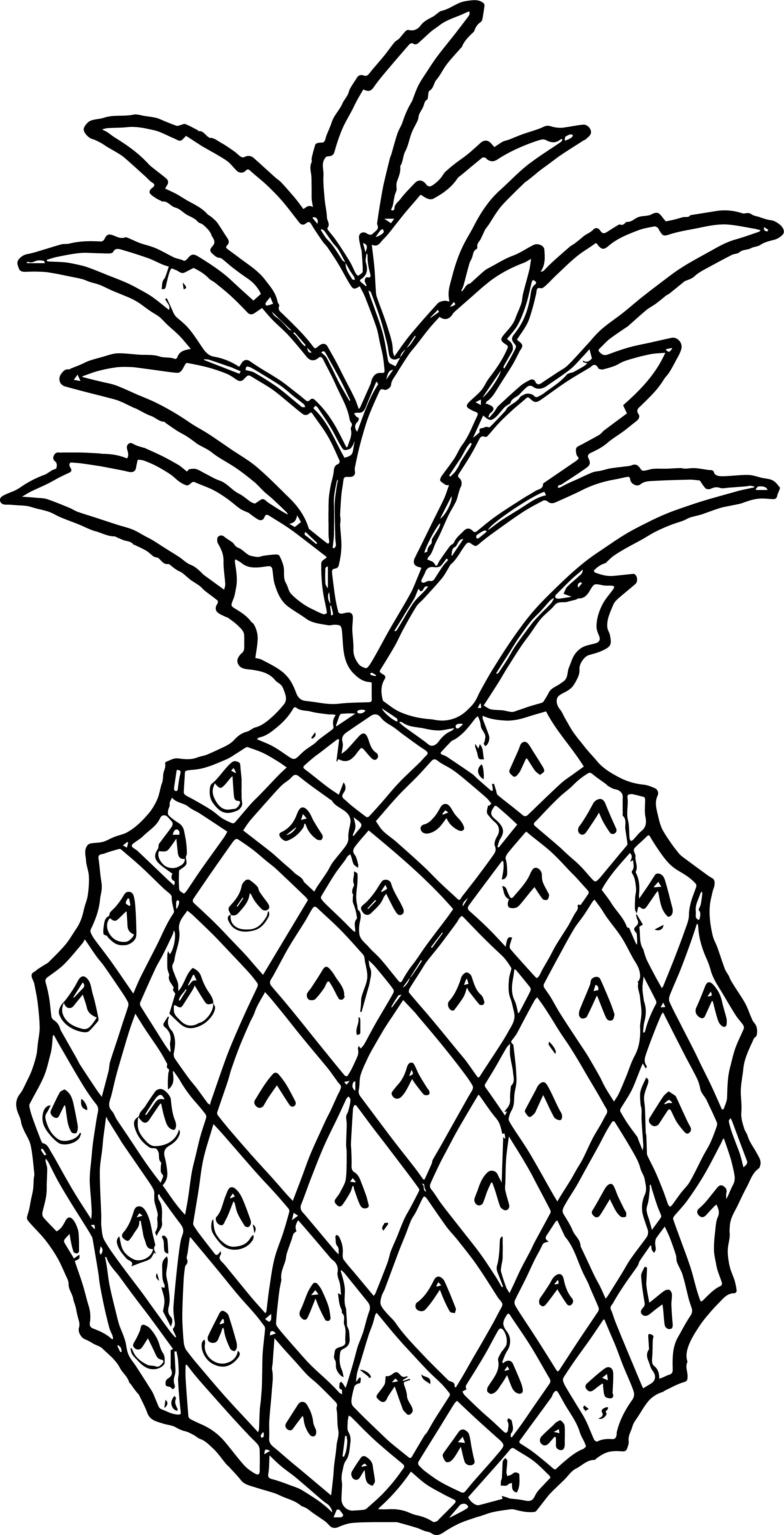 Pineapple Coloring Page WeColoringPage 61