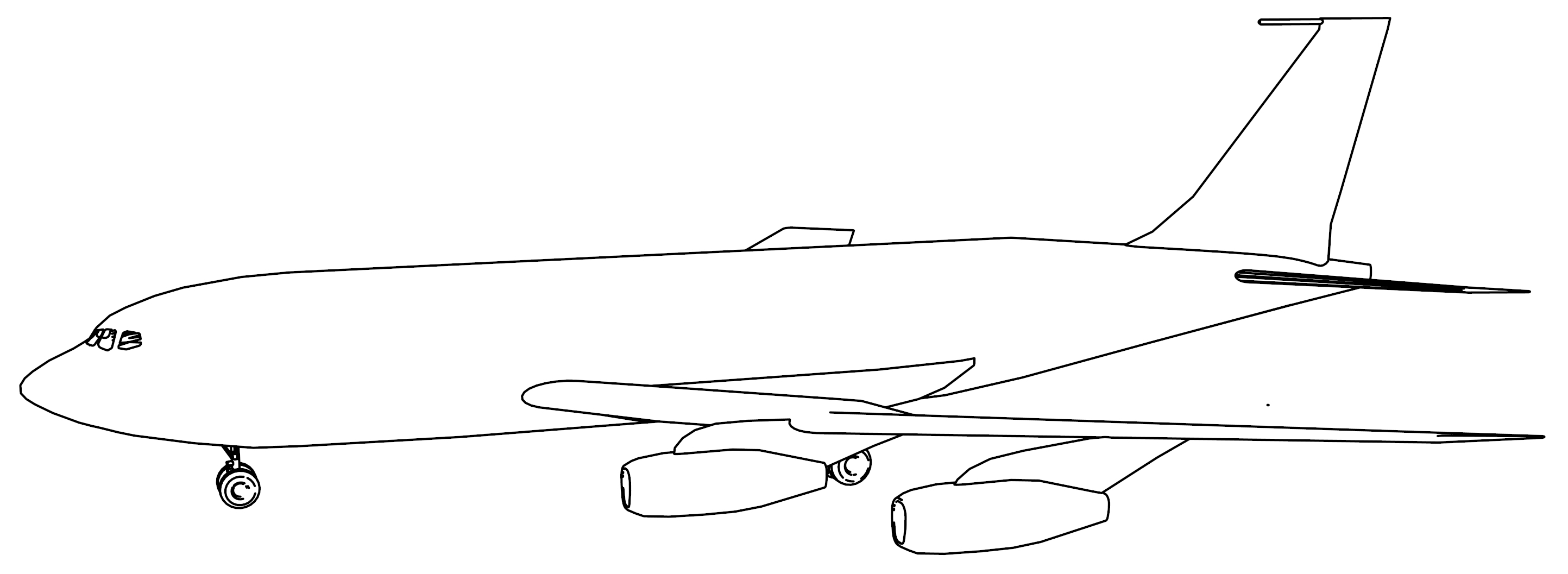 Plane Side Big Coloring Page