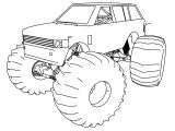Range Rover Monster Truck Coloring Page