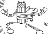 Robot Mighty Magiswords Coloring Page
