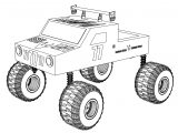 Seven Seven Monster Truck Coloring Page