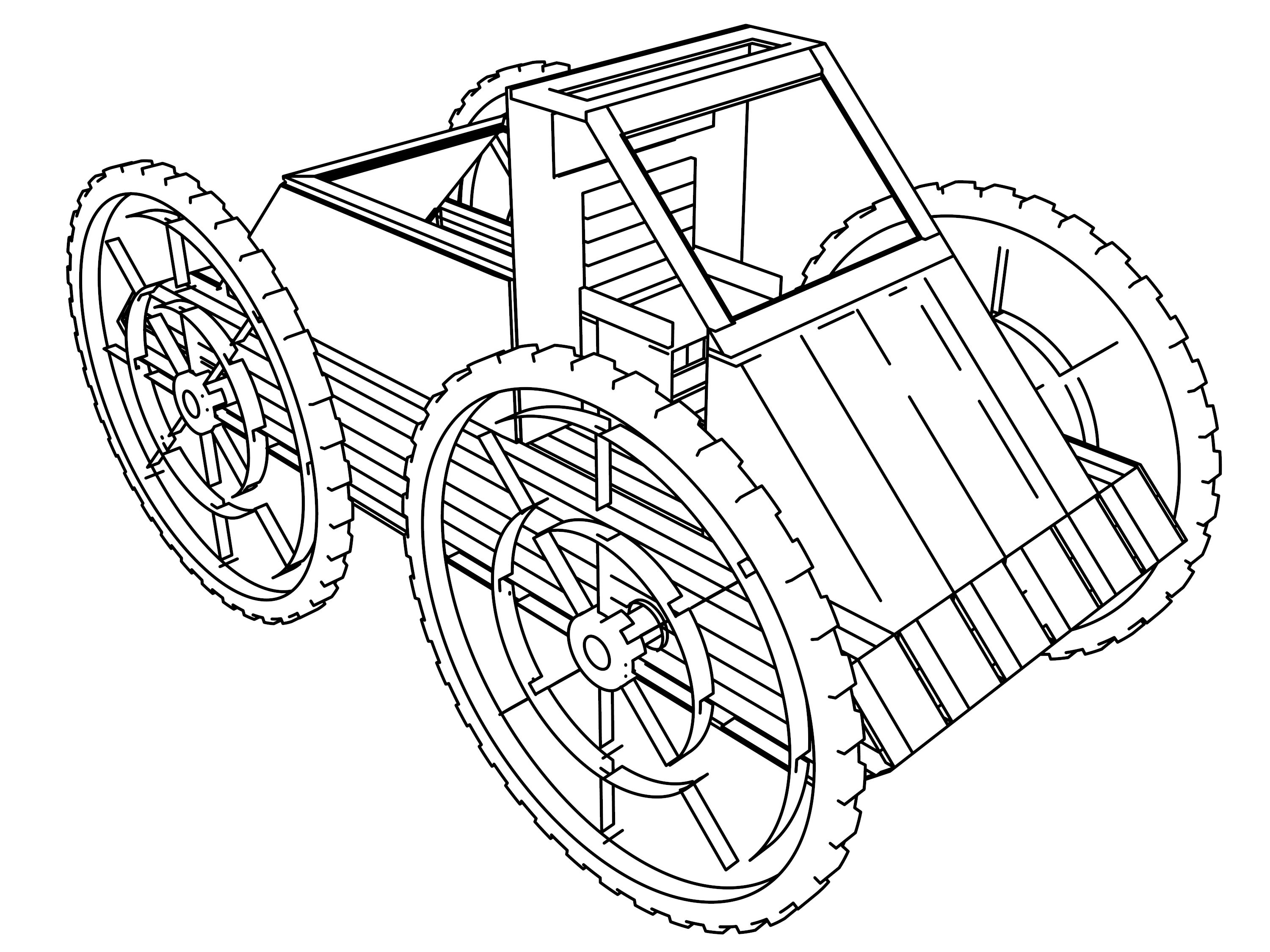 Ye Olde Monster Wagon First Truck Coloring Page