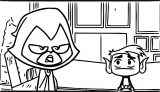 Talking Teen Titans Go Coloring Page