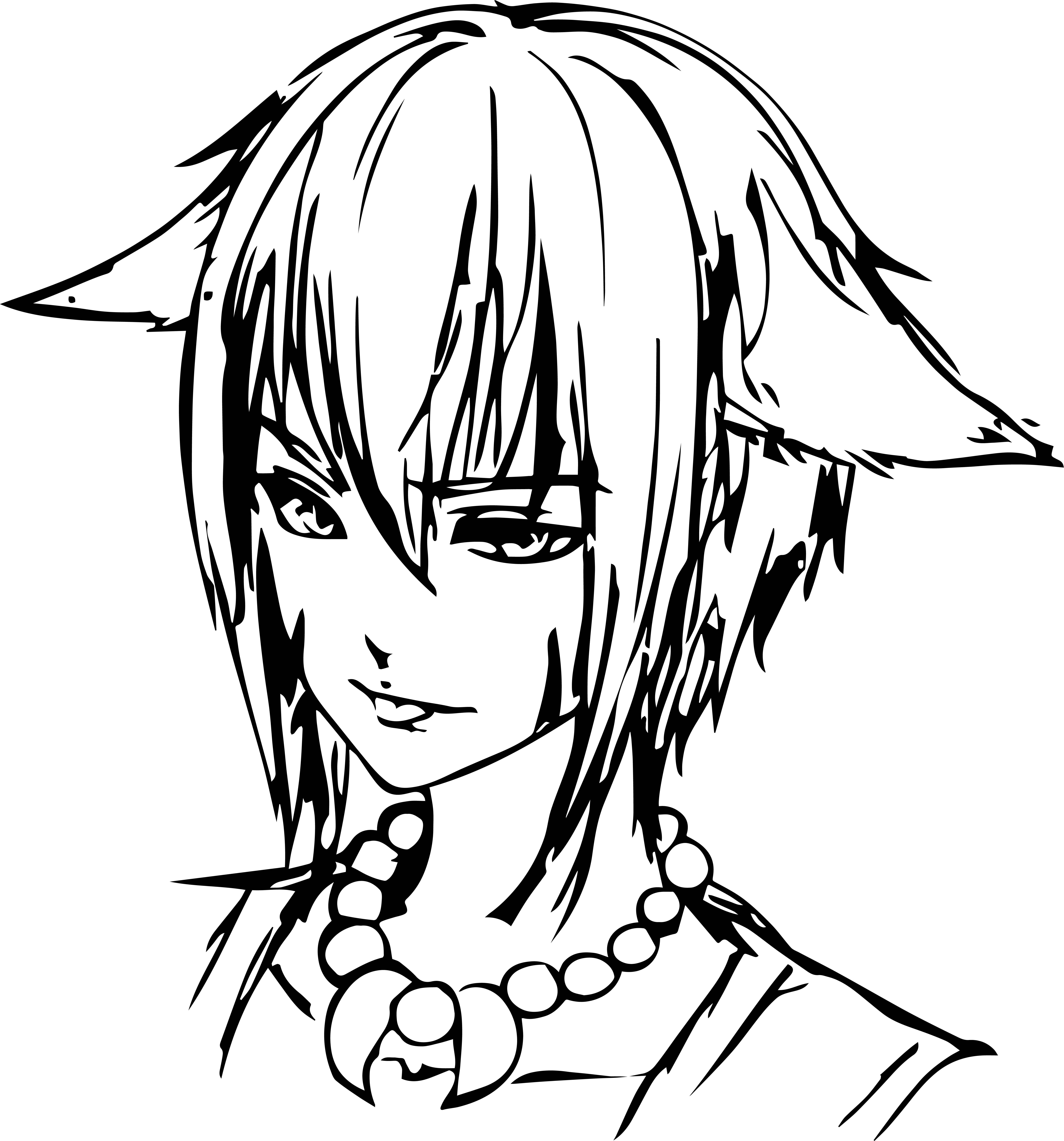 manga vampire boy face character coloring page