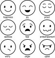 mood emoticons coloring page