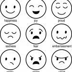 mood emoticons coloring page