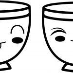 teacup coffee cup cute kawaii anime cup coloring page