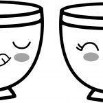 teacup coffee cup hmm kawaii anime cup coloring page