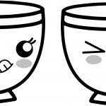 teacup coffee cup hungry kawaii anime cup coloring page