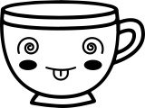 teacup coffee cup shock cup coloring page
