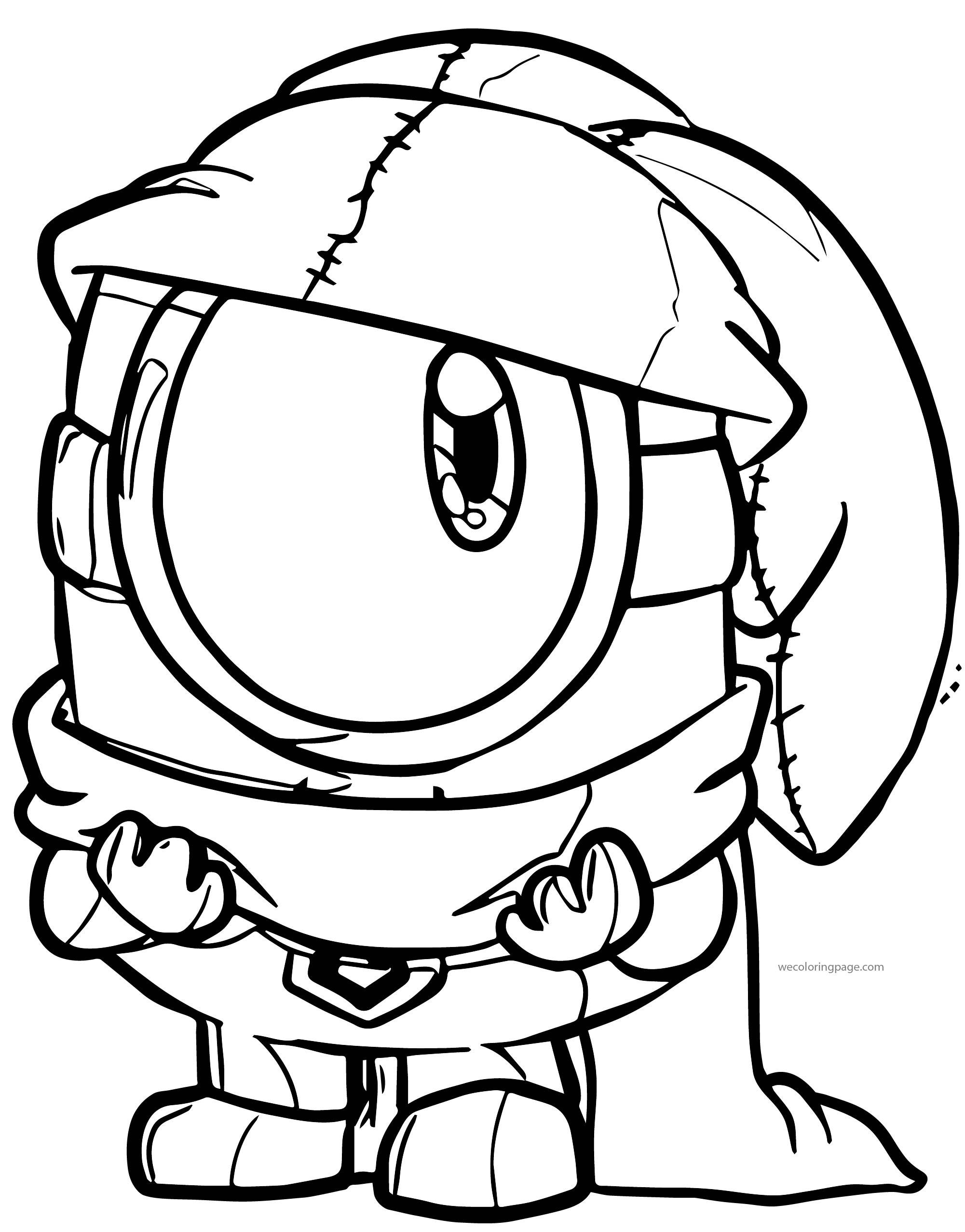 Big Eyes Minion Minions Coloring Page