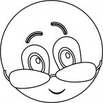 Emoticon With Shades Smile Coloring Page