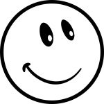 Funny Smile Emoticons Cute Face Coloring Page