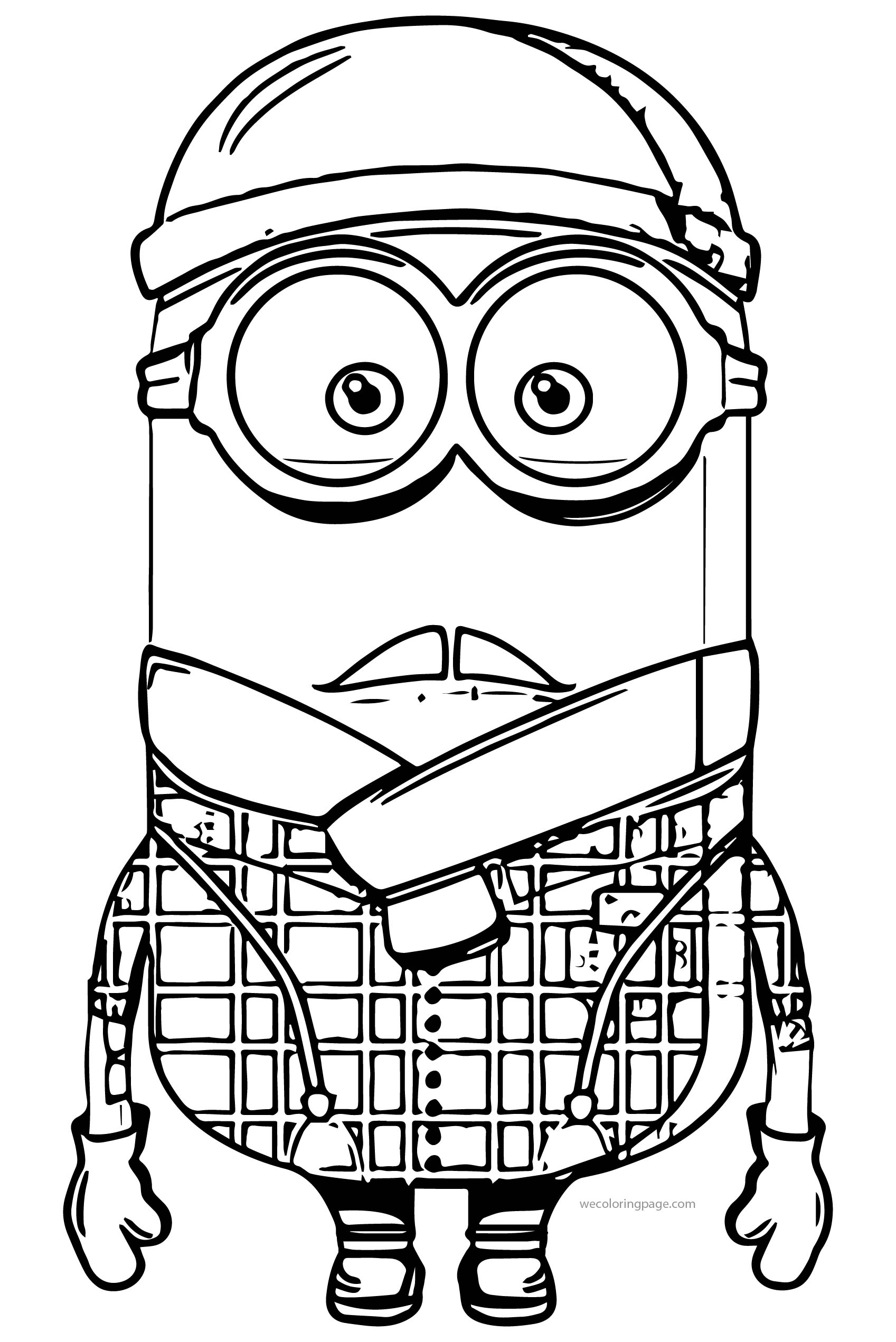 Minion Uncle Coloring Page