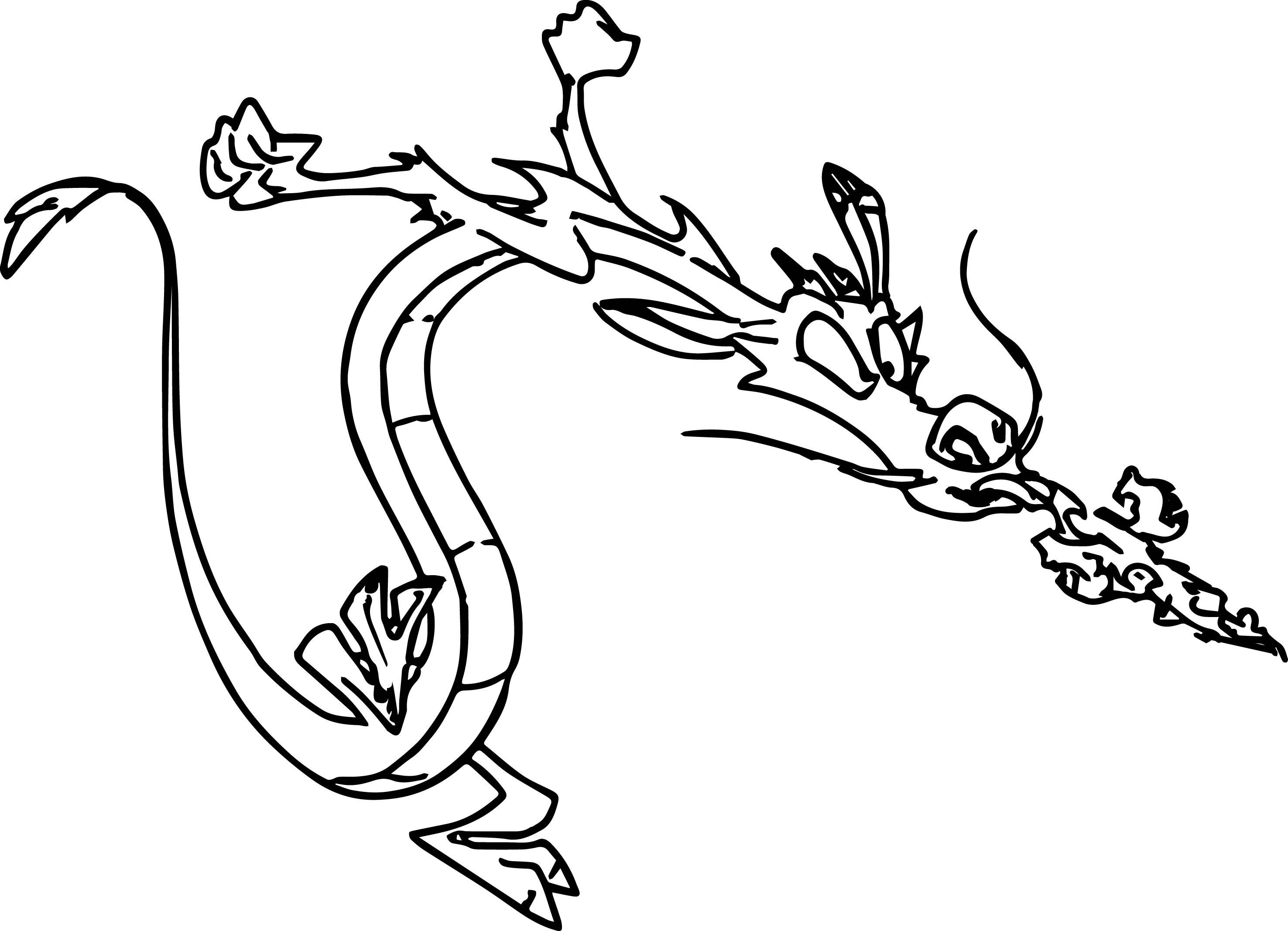 Mulan Disney Mushu 08 Coloring Page