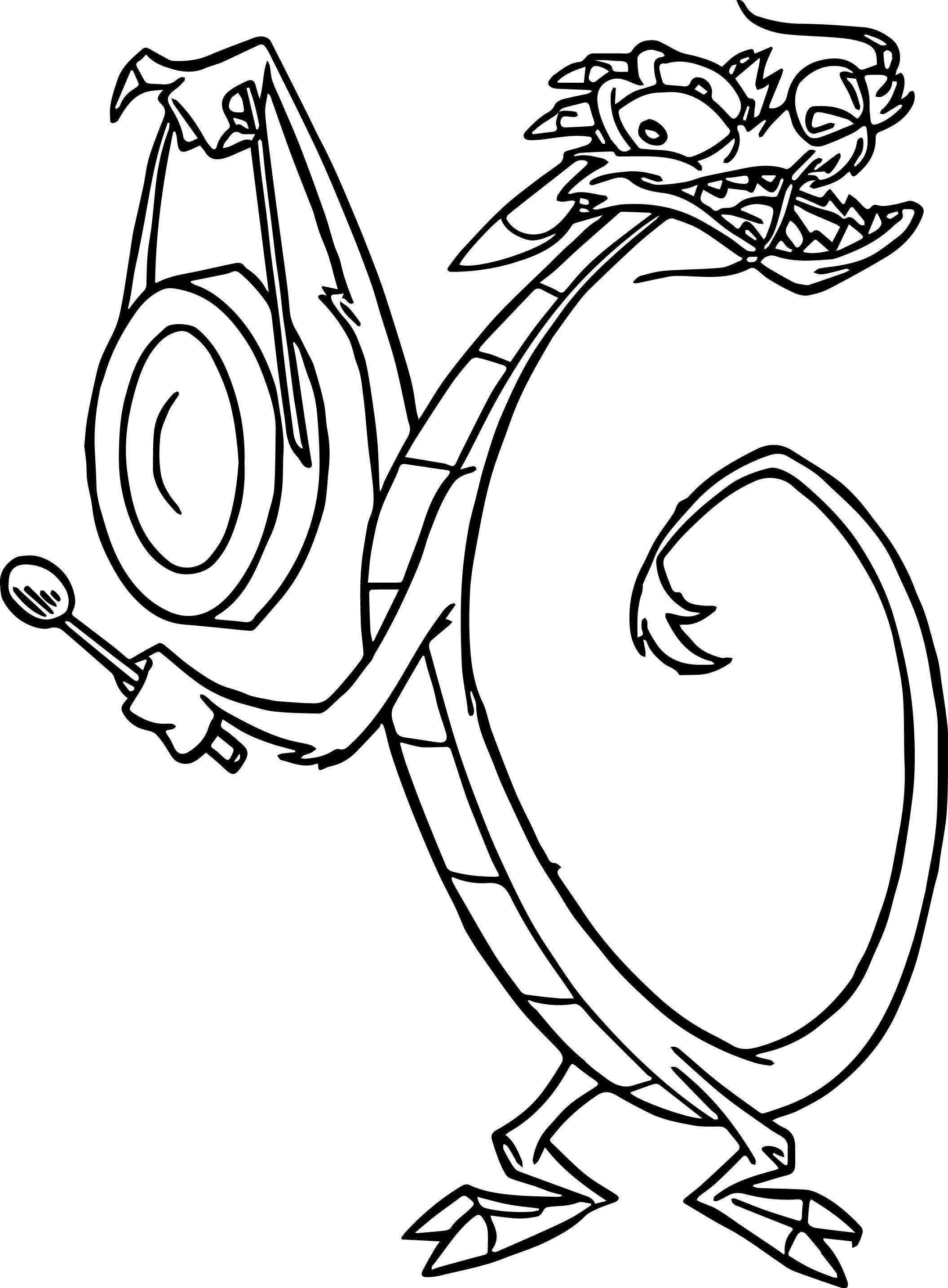 Mulan Disney Mushu 09 Coloring Page