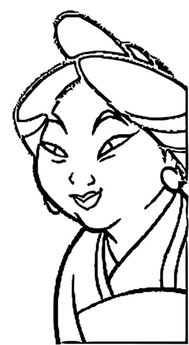 Mulan Family Coloring Page 16