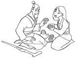 Mulan Family Coloring Page 19